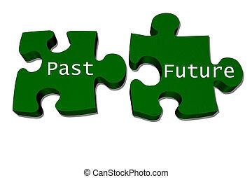 passato, come, futuro, adattare