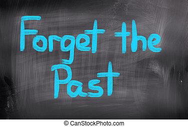 passato, concetto, dimenticare