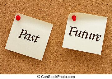 passato, contro, futuro