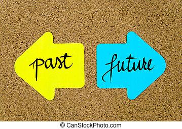 passato, contro, messaggio, futuro