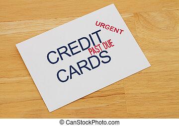 passato, credito, pagamento, scheda, dovuto