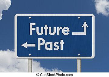 passato, differenza, futuro, fra