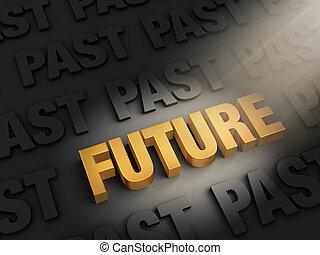 passato, non, futuro, sguardo