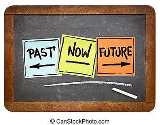 passato, ora, e, futuro, concetto