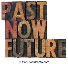 passato, ora, futuro, -, tempo, concetto