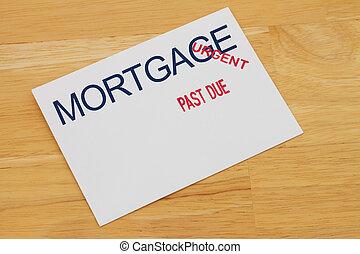 passato, pagamento, ipoteca, dovuto