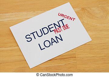 passato, prestare pagamento, studente, dovuto