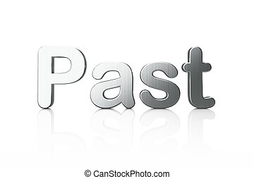 passato, timeline, parola, concept:, 3d