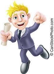 passe, concept, business, qualification