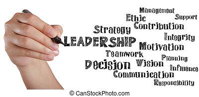 passe escrito, liderança