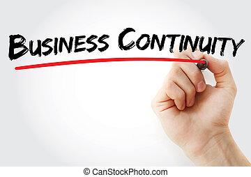 passe escrito, negócio, continuidade