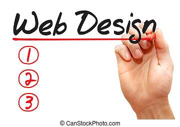 passe escrito, projeto teia, lista, conceito negócio