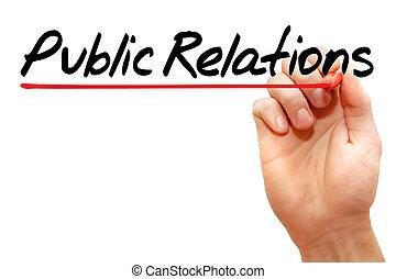 passe escrito, relações públicas, conceito negócio