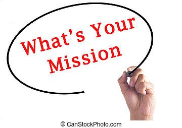 passe escrito, what's, seu, missão, ligado, transparente, tábua