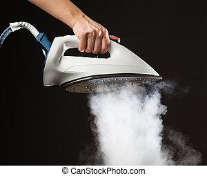 passe segurar, gerador vapor, ferro