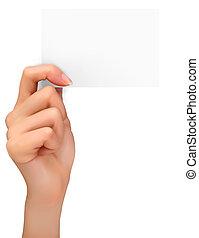 passe segurar, papel, card.