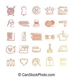 passe-temps, clair, icônes
