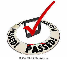 Passed Review Inspection Evaluation Assessment Good Results Check Box Word