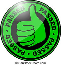 Passed thumbs up icon
