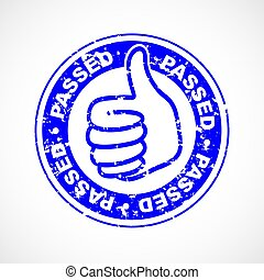 Passed thumbs up stamp