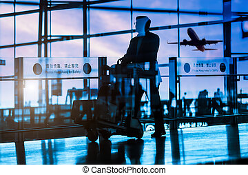 passeggero, aeroporto
