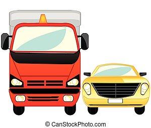 passeggero, carico, automobile
