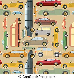 passeggero, fondo, automobile