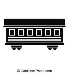 passeggero, stile, semplice, automobile, treno, icona
