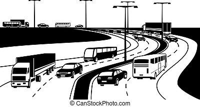 passeggero, trasporto, carico