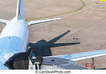 Passenger aircraft at the gate
