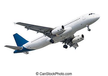 passenger airplane A320 isolated on white background