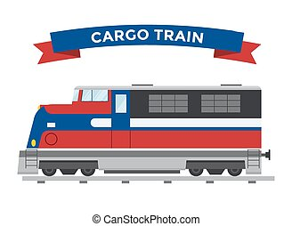 Cargo transportation train vector. Trains vector illustration on white background. Transportation cargo train railway silhouette. Cargo trains vector railway. Diesel train main head