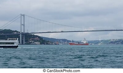 Passenger boat in the Bosporus