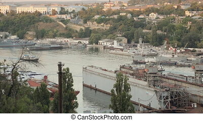 Passenger boats in the bay of Sevastopol