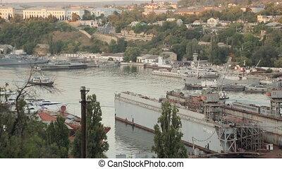 Passenger boats in the bay of Sevastopol
