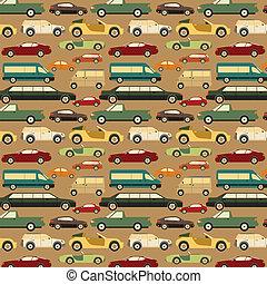 Passenger car background, seamless. Vector illustration