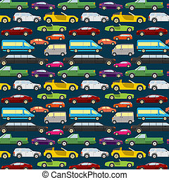 Passenger car background, seamless. Vector illustration