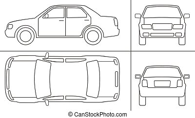 car keyline - passenger car keyline  different sides