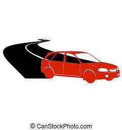 Passenger car on the road