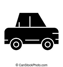 Passenger car solid icon. Car vector illustration isolated on white. Auto glyph style design, designed for web and app. Eps 10.