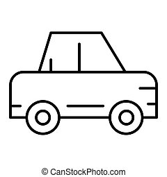 Passenger car thin line icon. Car vector illustration isolated on white. Auto outline style design, designed for web and app. Eps 10.