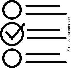 Passenger checklist icon, outline style