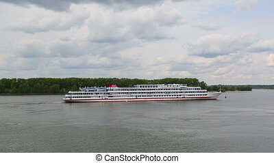 Passenger cruise ship on the Volga River in Russia