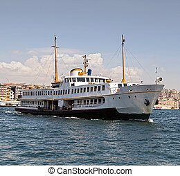 Passenger ferry in Bosporus, Istanbul, Turkey