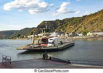 Passenger Ferry on the Rhine River