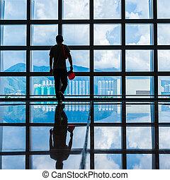 Passenger In airport
