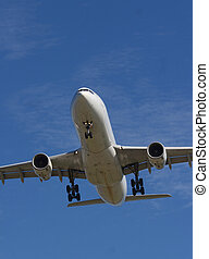 Passenger jet - aircraft over Vancouver airport