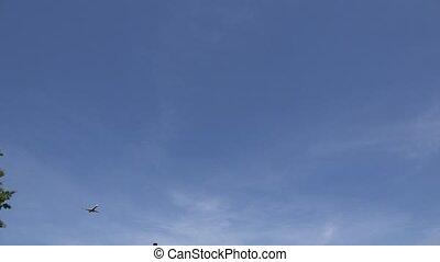 Passenger Jet Flying Overhead