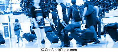 passenger - the passenger at the airport.