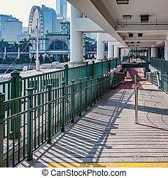 Passenger pier by the city center.